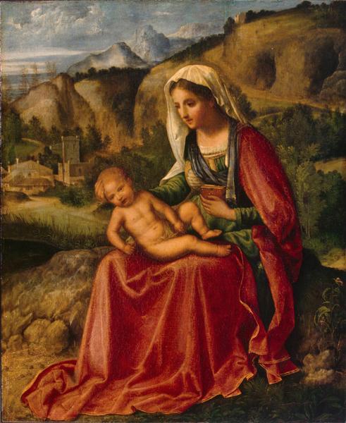 madonna col bambino Giorgione