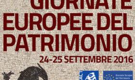 24/25 settembre: Giornate Europee del Patrimonio 2016