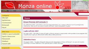 homepage sito monzaonline